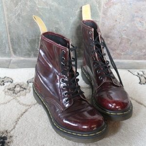 Dr. Martens 1460 Cherry Red Cambridge Brush Boots